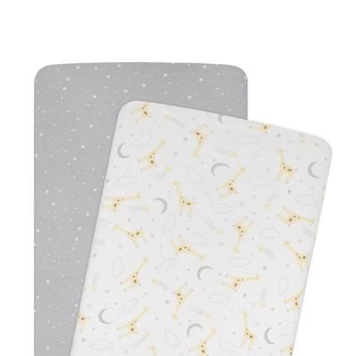 Living Textiles Noah Bassinet Fitted Sheet 2 Pack 808388