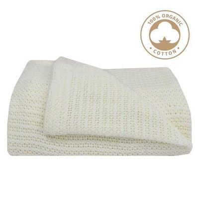 Living Textiles Organic Bassinet Cellular Blanket - White 805852