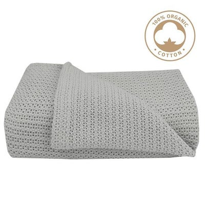 Living Textiles Organic Bassinet Cellular Blanket - Grey 805856