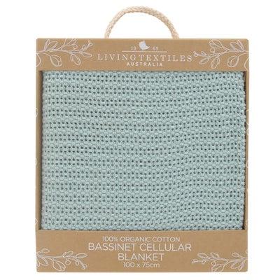 Living Textiles Organic Bassinet/Cradle Cell Blanket - Sage 807941