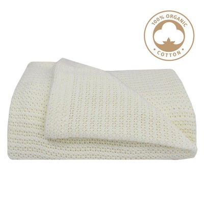 Living Textiles Organic Cot Cellular Blanket - White 805857