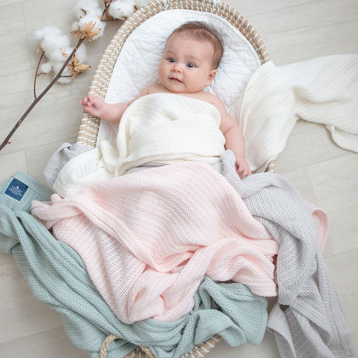 Living Textiles Organic Cot Cell Blanket - Sage 807942