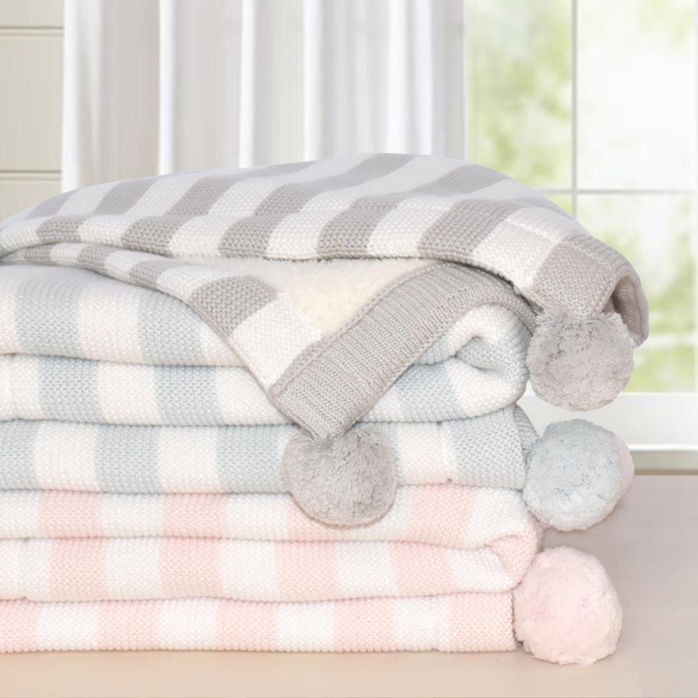 Living Textiles Pom Pom Sherpa Blanket 808245001