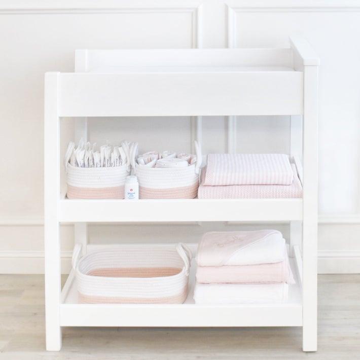 Living Textiles Storage Set 3 Piece - Blush / White 806560