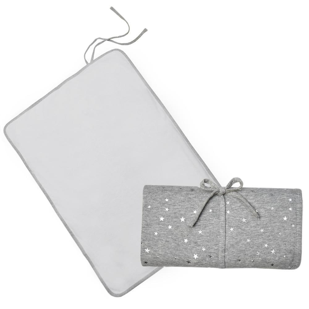 Living Textiles Waterproof Travel Change Mat - Silver Star 806556