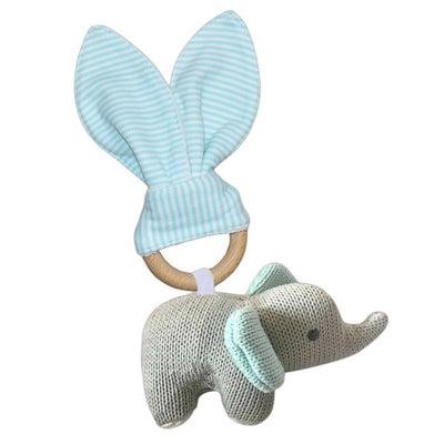 Living Textiles Wooden Teether Set - Elephant 806570