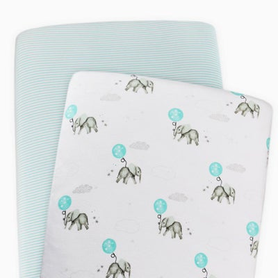 Living Textiles Dream Big Bassinet Fitted Sheet 2pk 805938