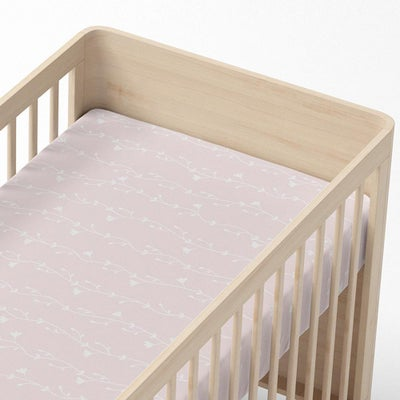 Lolli Living Forest Friends Cot Fitted Sheet - Floral Vine 806938