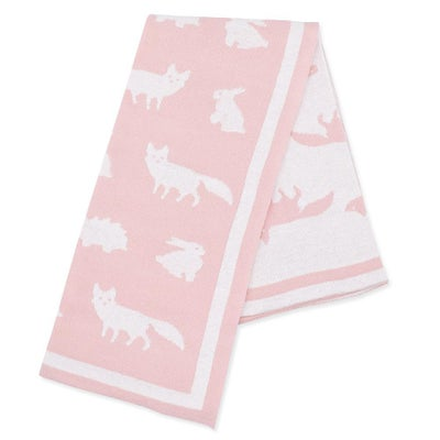Lolli Living Knitted Pram Blanket - Forest Friends 807179