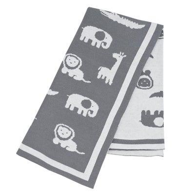 Lolli Living Knitted Pram Blanket - Urban Safari  807178