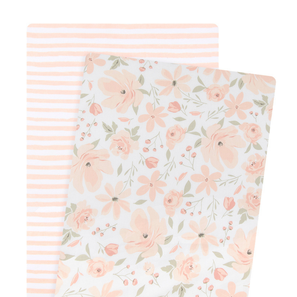 Lolli Living Meadow 2PK Bassinet Fitted Sheet 807798