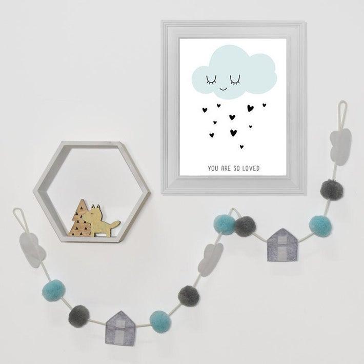 Lolli Living Pom Pom Garland - Clouds 805667