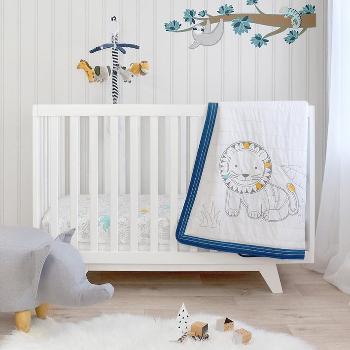 Lolli Living Urban Safari Cot 4PCE Nursery Set 806915