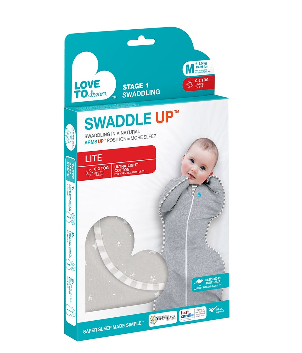 Love to SwaddleUp Lite - Grey Medium 806292