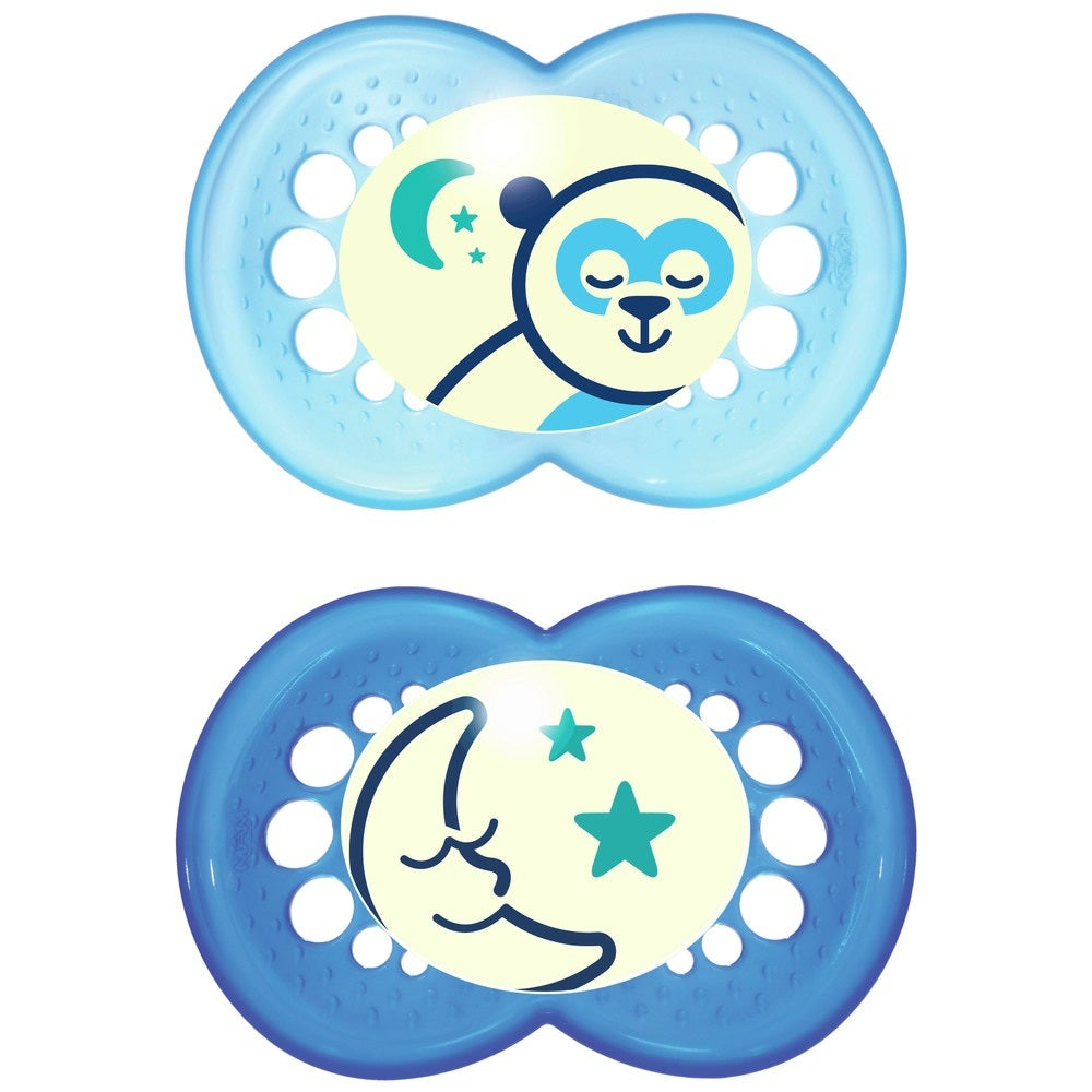 MAM Night Silicone Soother 2 pk 4-24mth  721485