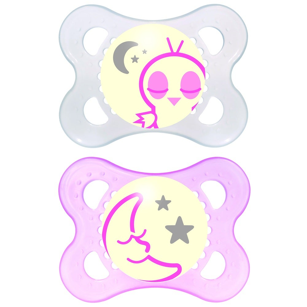 MAM Nighttime Silicone Soother 0-4mths 2pk 728213