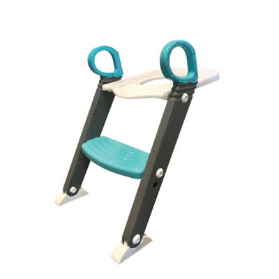 Moose Step On Up Toilet Trainer - Grey/Aqua 805685