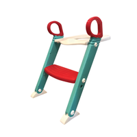 Moose Step On Up Toilet Trainer - Aqua/Red 805686