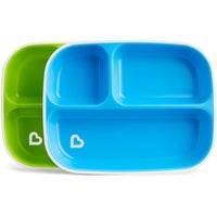 Munchkin Splash Divided Plates 2pk 8080840001