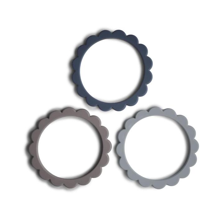 Mushie Flower Teething Bracelet 3 Pack 8081980001