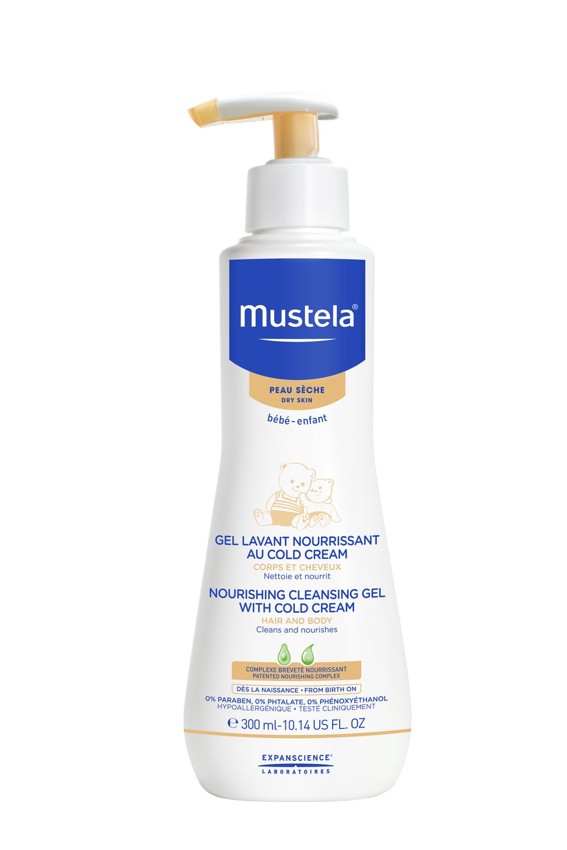 Mustela Dry Skin Nourishing Cleansing Gel with Cold Cream 300ml 806930