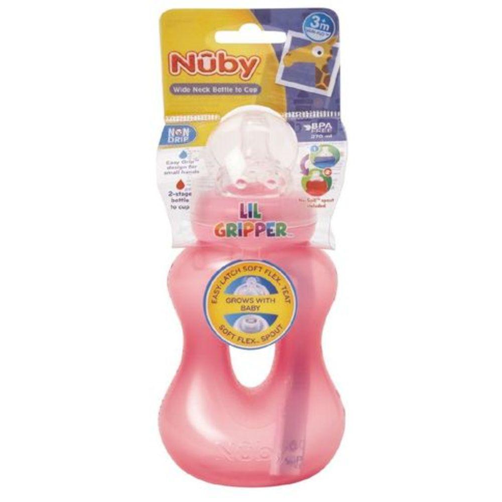 Nuby Lil Gripper Bottle To Cup 270ml 805571