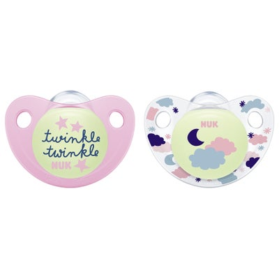 NUK Night & Day Soothers 2pk sz 3 802669