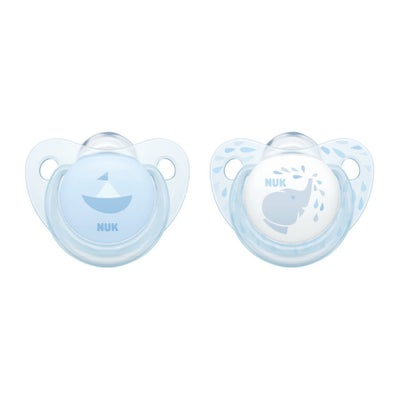NUK Silicone Soother size 2-2pk Blue 724339