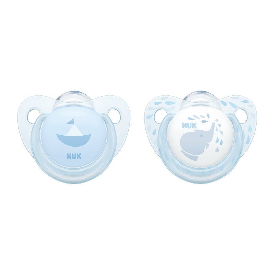 NUK Silicone Soother size 1-2pk Blue 724338