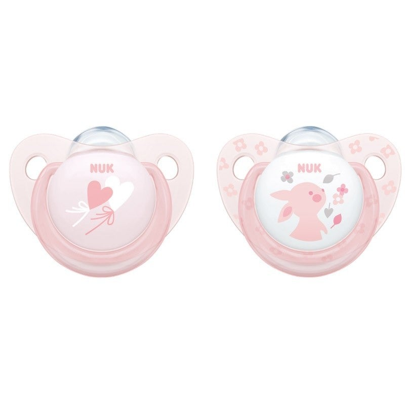 Nuk Silicone Soother Size1-2Pk Rose 806223