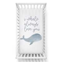 Lolli Living Oceania Cot Fitted Sheet - Whale Love You 807811