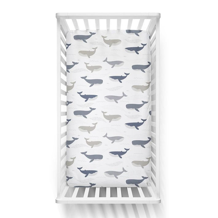 Lolli Living Oceania Cot Fitted Sheet - Whales 807812