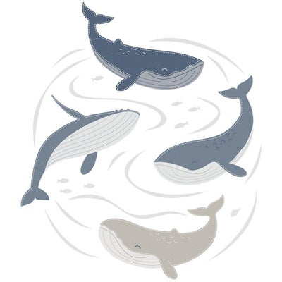 Oceania Wall Decal Set - Whales 807818