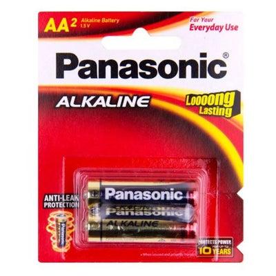 Panasonic AA Size Alkaline Batteries 2 Pack 805202