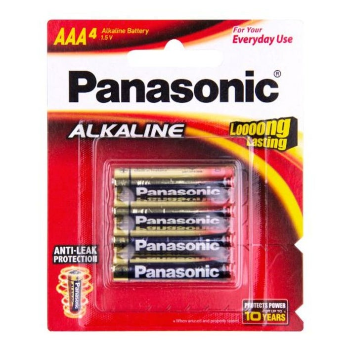 Panasonic AAA Size Alkaline Batteries 4 Pack 805201
