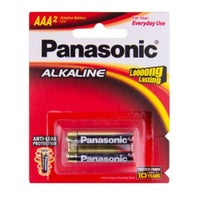 Panasonic AAA Size Alkaline Batteries 2 Pack 805200