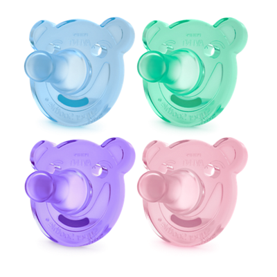 Philips Avent Bear Soothie 0-3m 2pack 805558