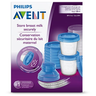 Philips AVENT Breast Milk Storage Cups 180ml 10pcs 803126