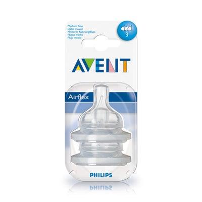 Philips AVENT Anti-colic Silicone Teat - Medium Flow 2pk 50798