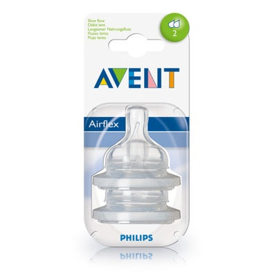 Philips AVENT Anti-colic Silicone Teat Slow Flow 2pk 50813