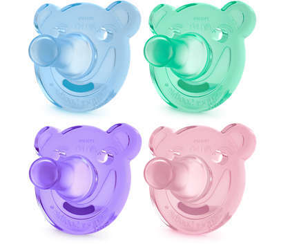 Philips Avent Silicone Bear Soother 2Pk - 3-6mths  807296
