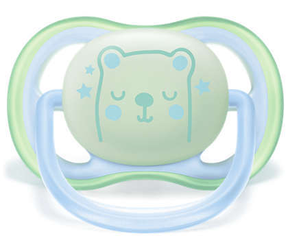 Philips Avent Ultra Air Soother Night 2pk - 0-6mths 807293