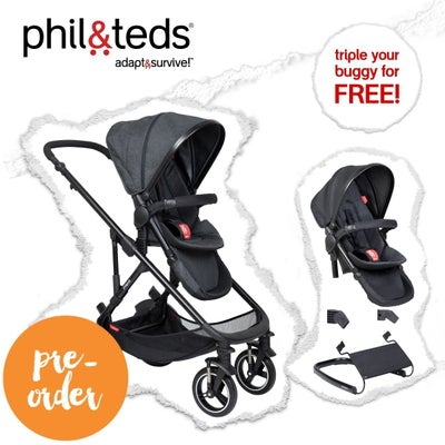 phil&teds® voyager™ V6 triple your buggy for FREE 807493