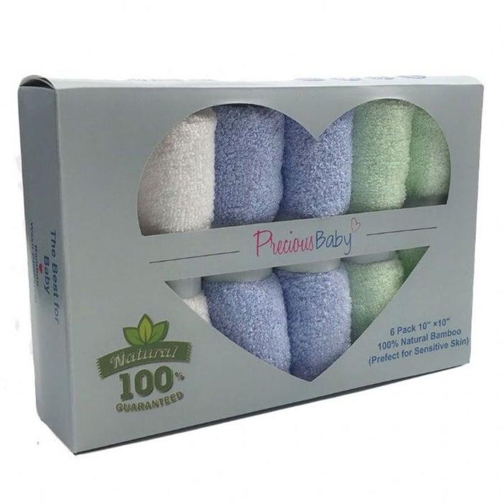 Precious Baby Face Cloths 6 pack 905716001