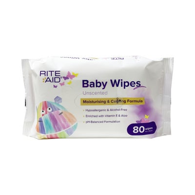 Rite Aid Thick Baby Wipes 80's 721884