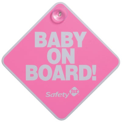 Safety 1st Baby on Board Sign - Pink 800877
