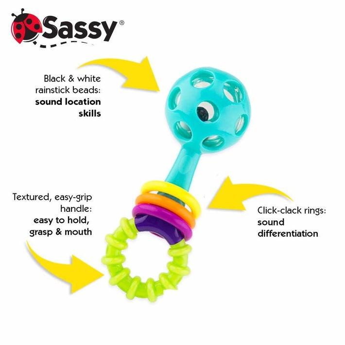 Sassy Peek A Boo Beads Rattle 807581