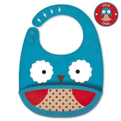Skip Hop Zoo Silicone Fold & Go Bib - Owl 805099