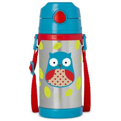 Skip Hop Zoo Stainless Straw Bottle - Owl 803483