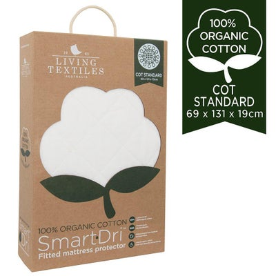 Smart-Dri Cot Standard Mattress Protector - Organic 808058